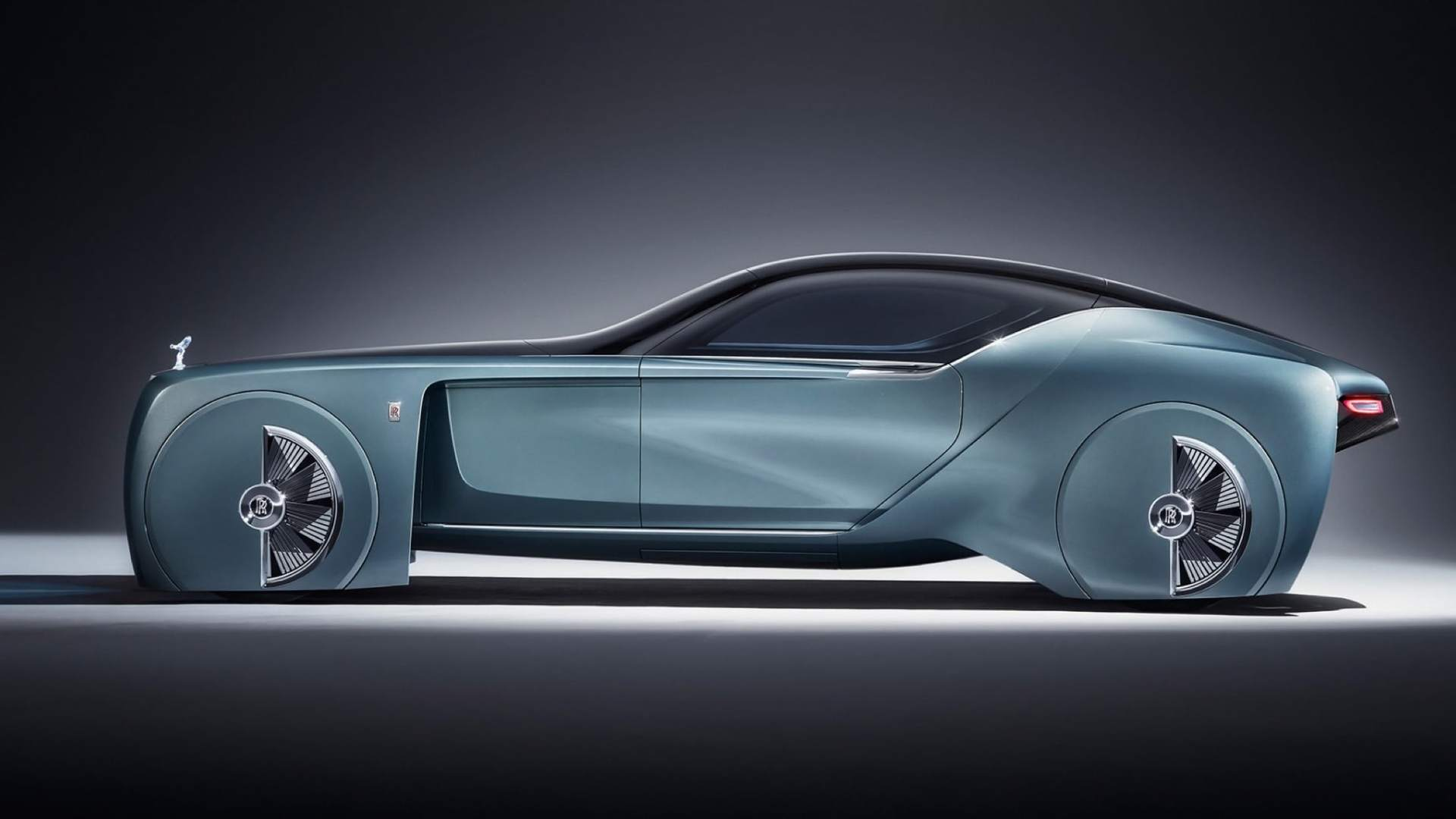 Side-on shot of the 103EX - a prototype electric vehicle by Rolls-Royce Motor Cars.