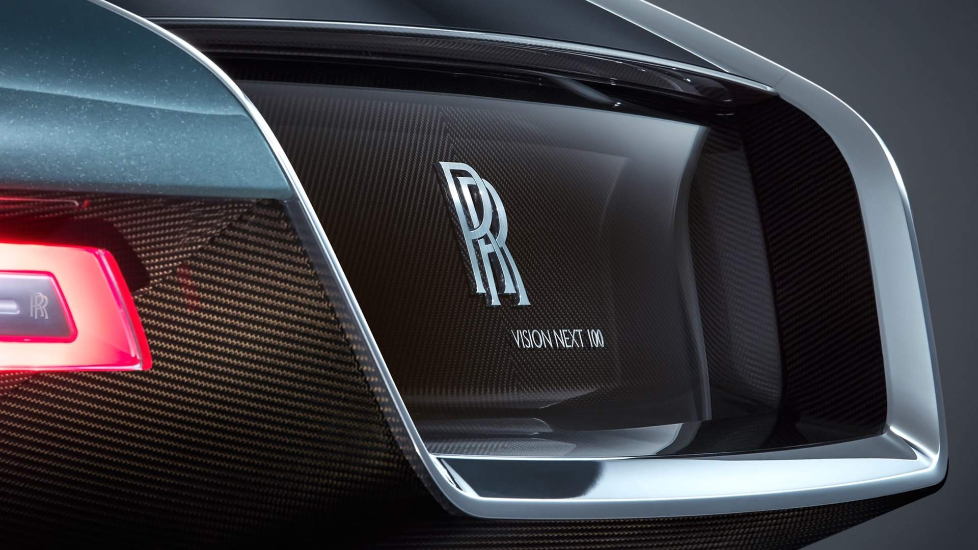 Close-up shot of the 103EX - a prototype electric vehicle by Rolls-Royce Motor Cars