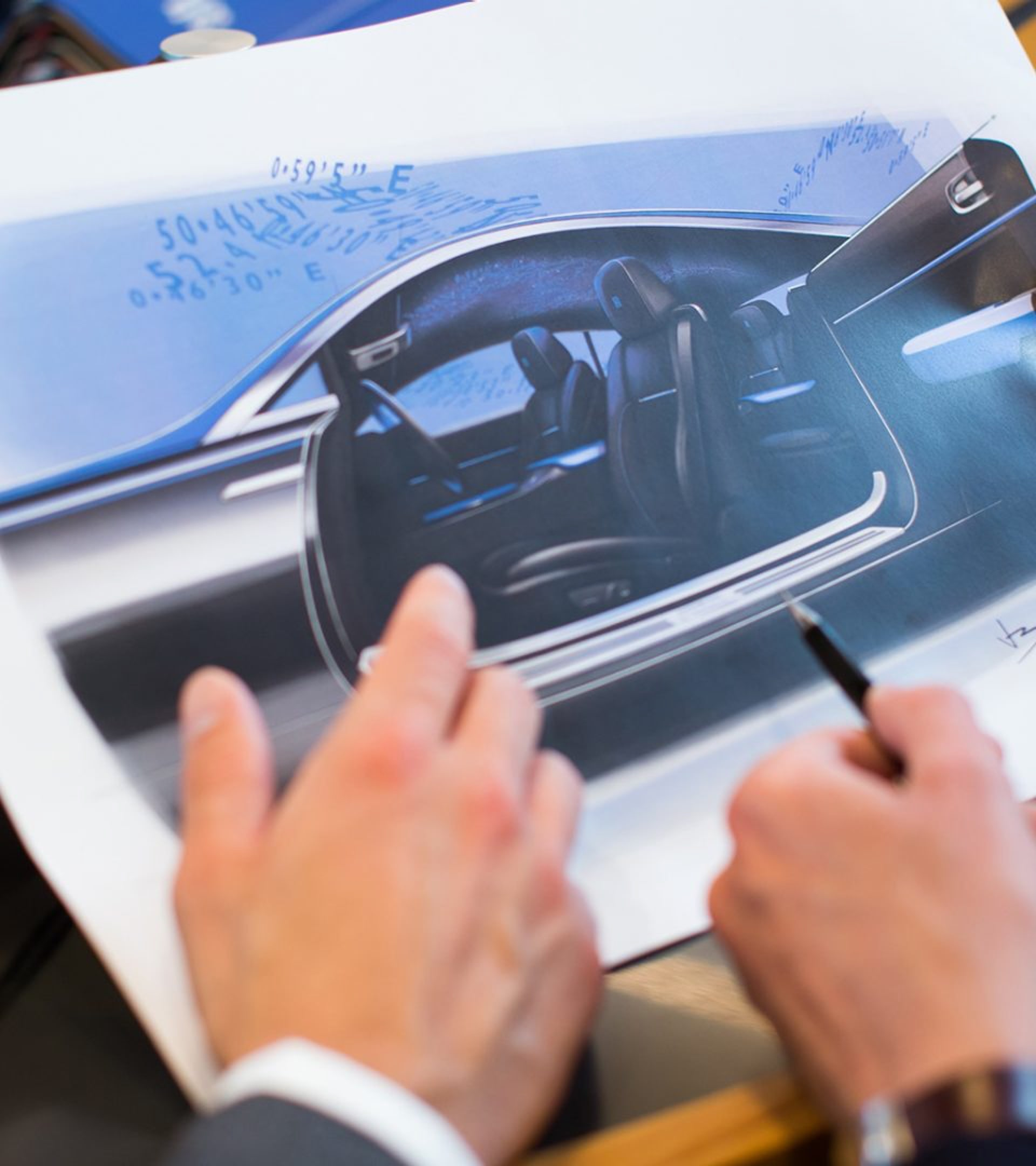 Two of Rolls-Royce's talented designers sharing creative thoughts and designs