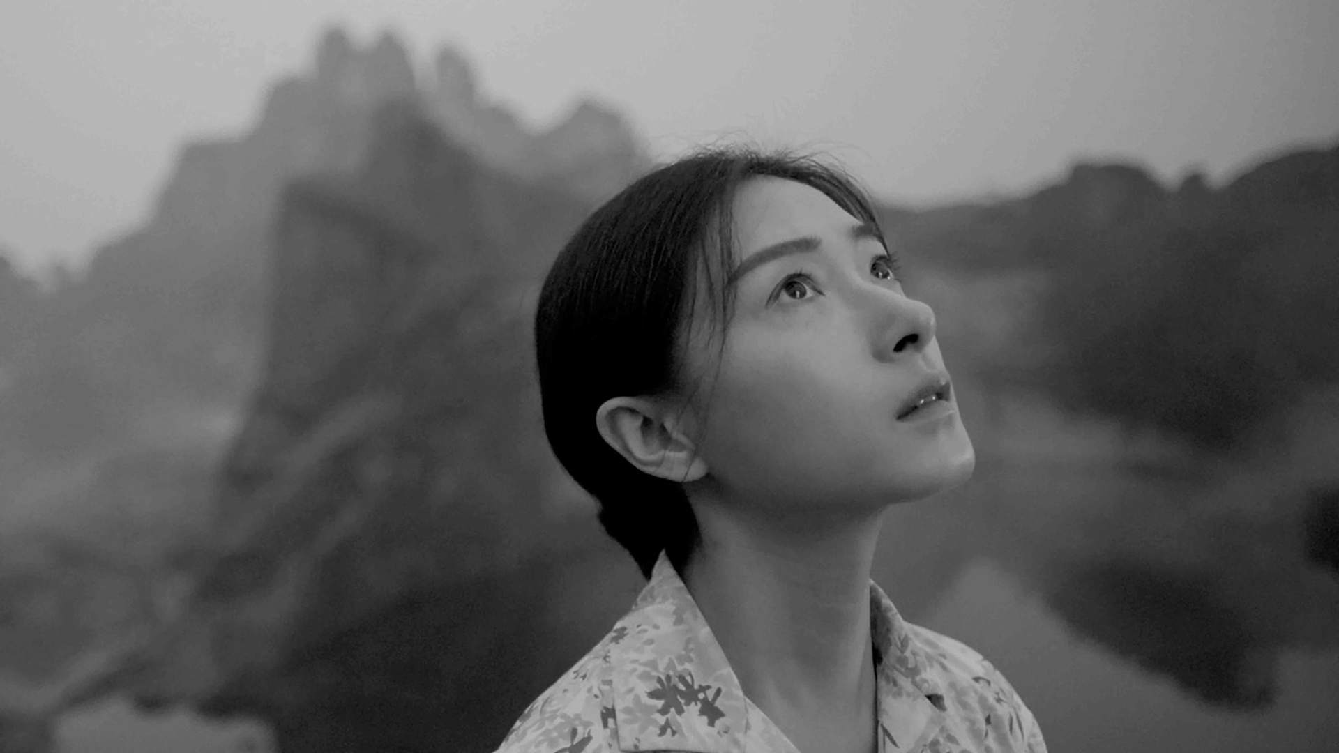 A snapshot from Yang Fudong's short film based on Chinese mythology, and the virtues of perseverance and will power.