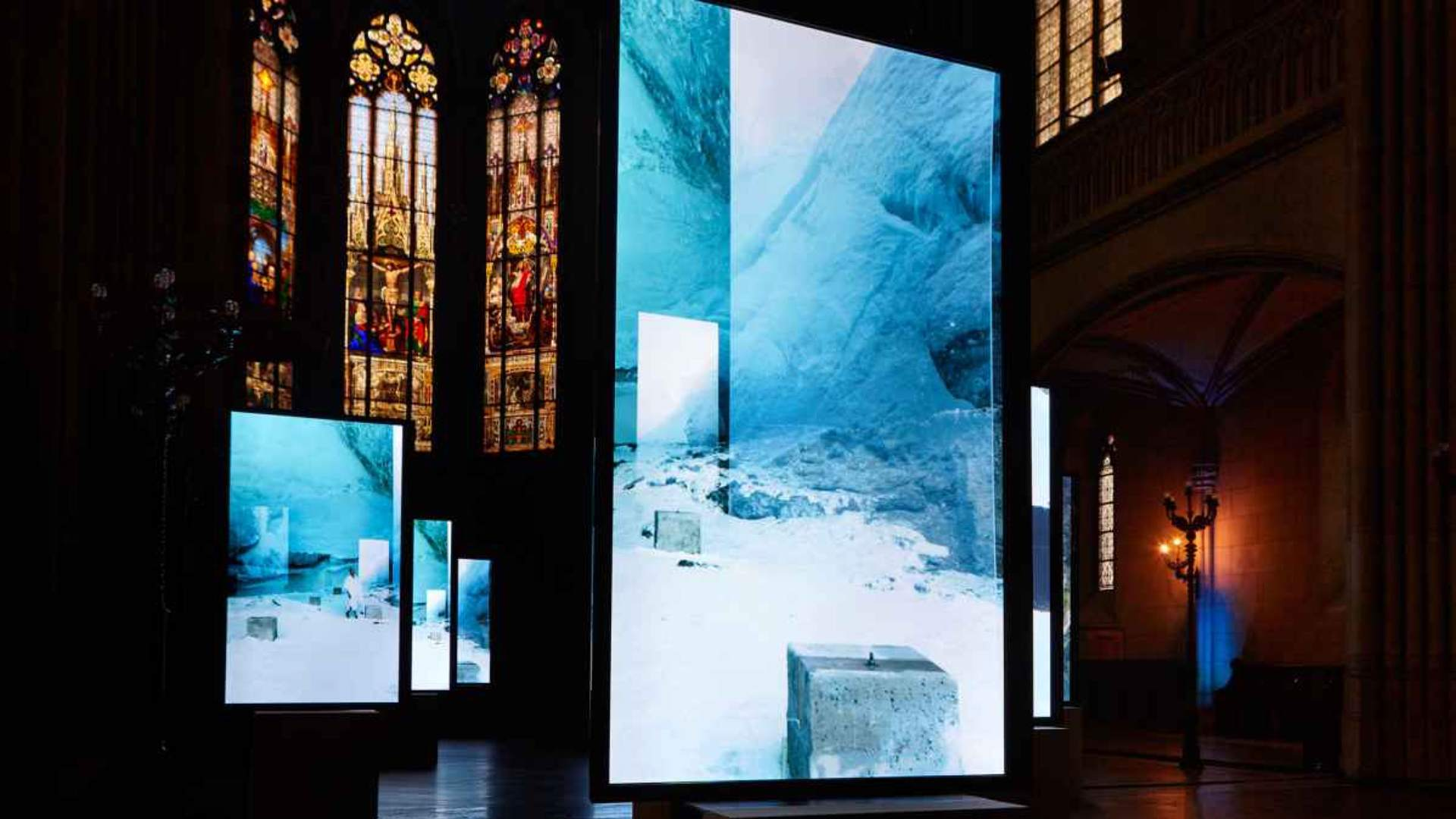 One of the pieces of artwork from Isaac Julien's work, Stones Against Diamonds at the Basel 2015 exhibition.