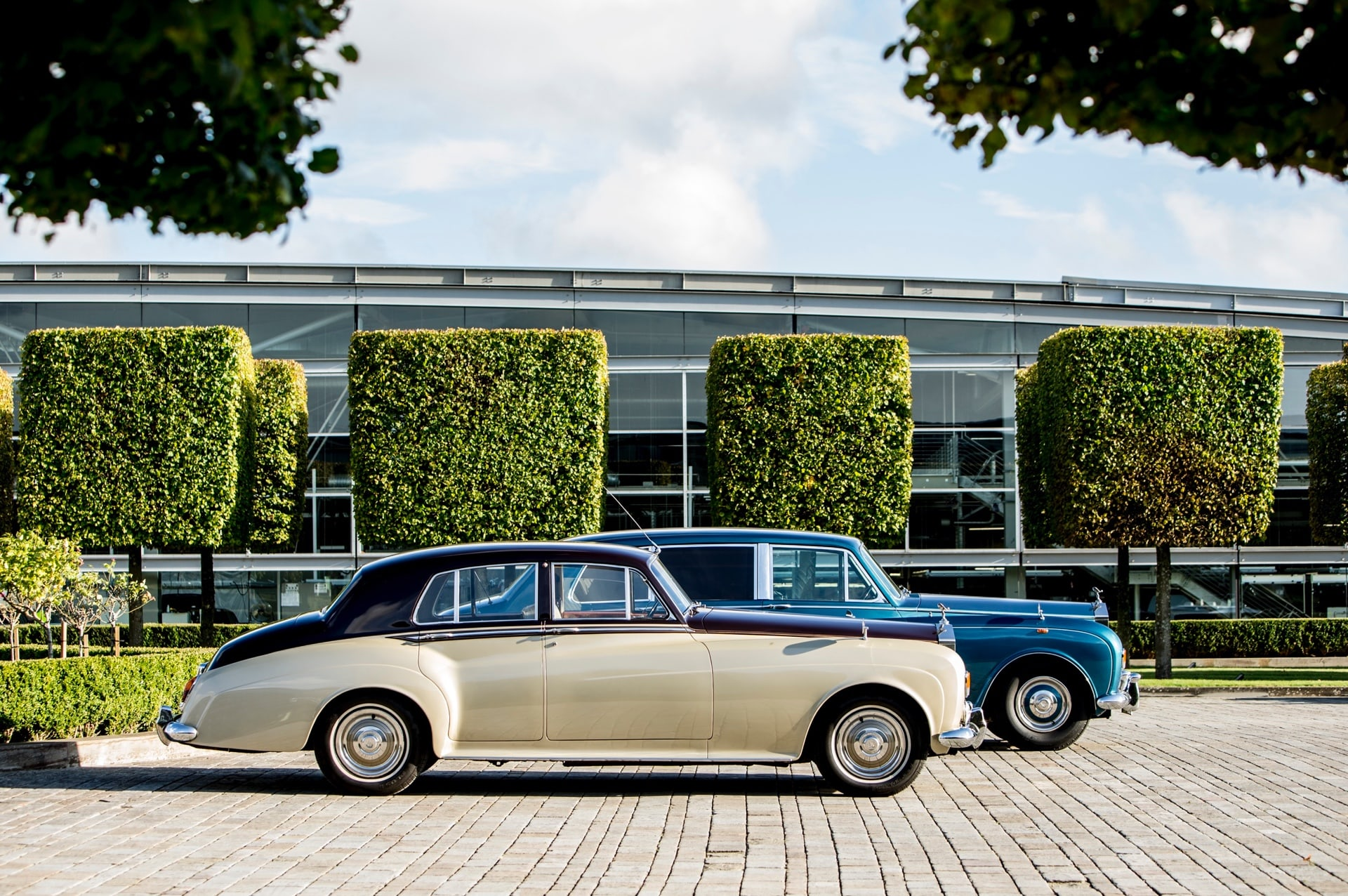 Rolls-Royce cars from the bygone eras at the Rolls-Royce Goodwood Revival experience.