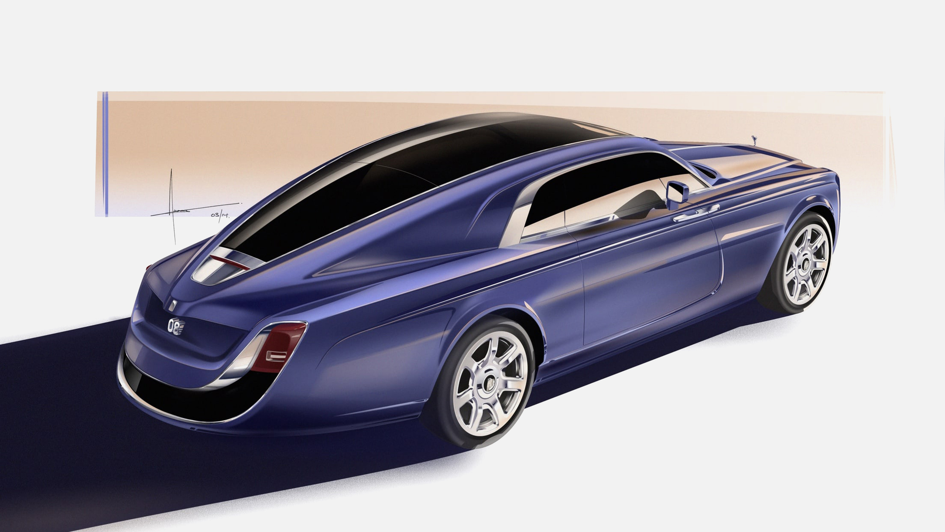 Side view of the Rolls-Royce Sweptail