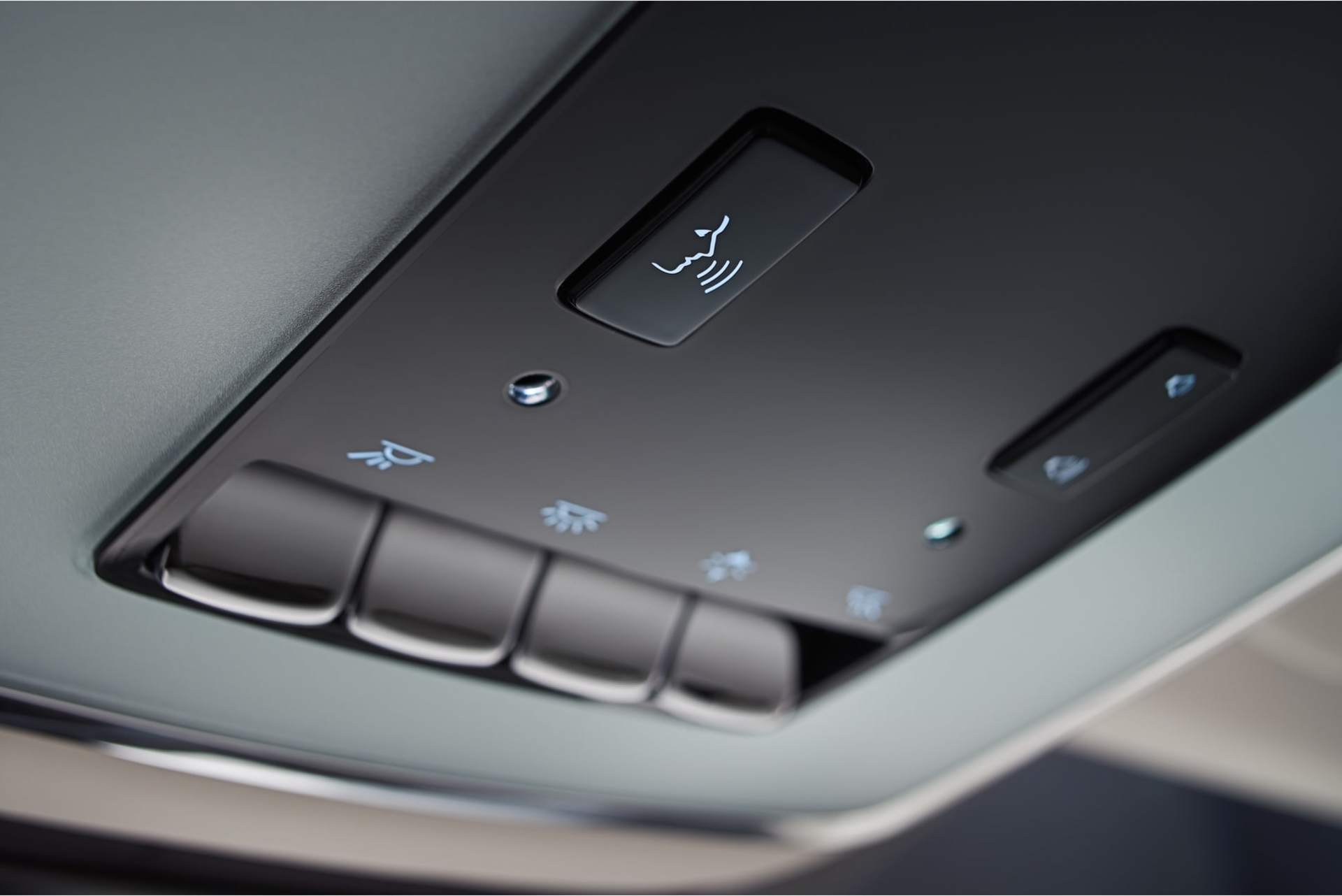 The backseat commands, used to enable communication with the driver, adjust the volume and lighting