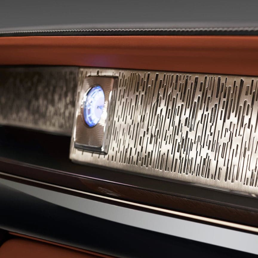 Running the entire length of fascia in the Phantom is a feature that is truly unique. It's called The Gallery – conceived to house bespoke artistic creations.