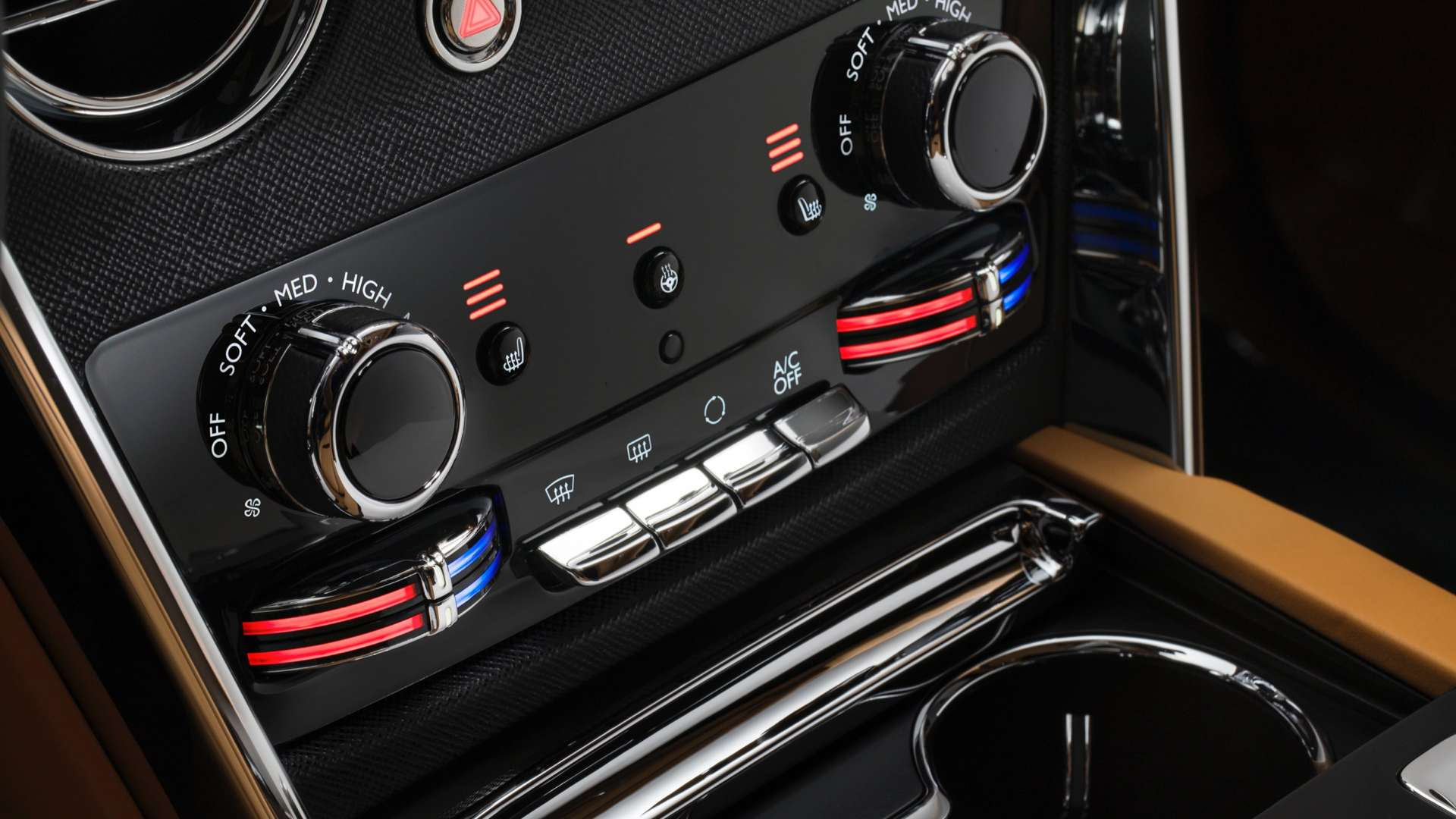 The gallery controls of the Rolls-Royce Cullinan.