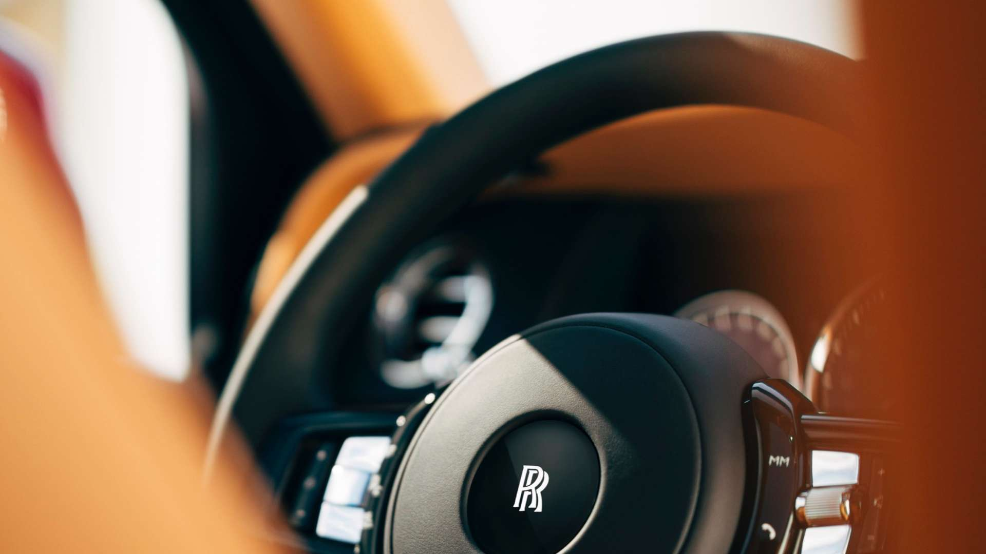 The steering wheel of the Rolls-Royce Cullinan.