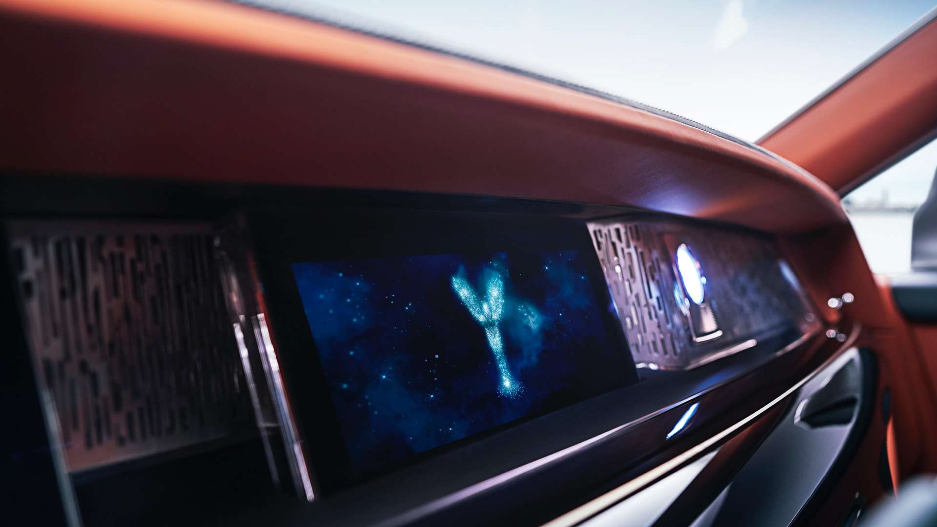 The dashboard of a Rolls-Royce Phantom.