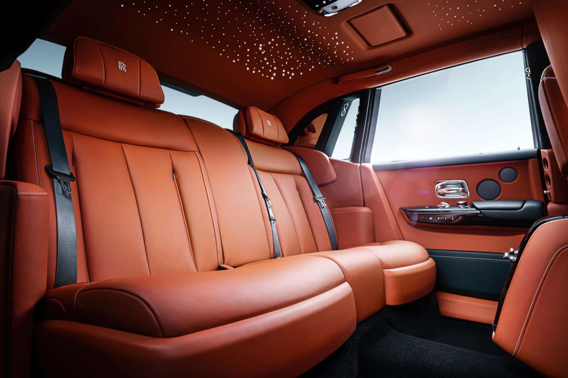 An interior shot of the Rolls-Royce Phantom motor car