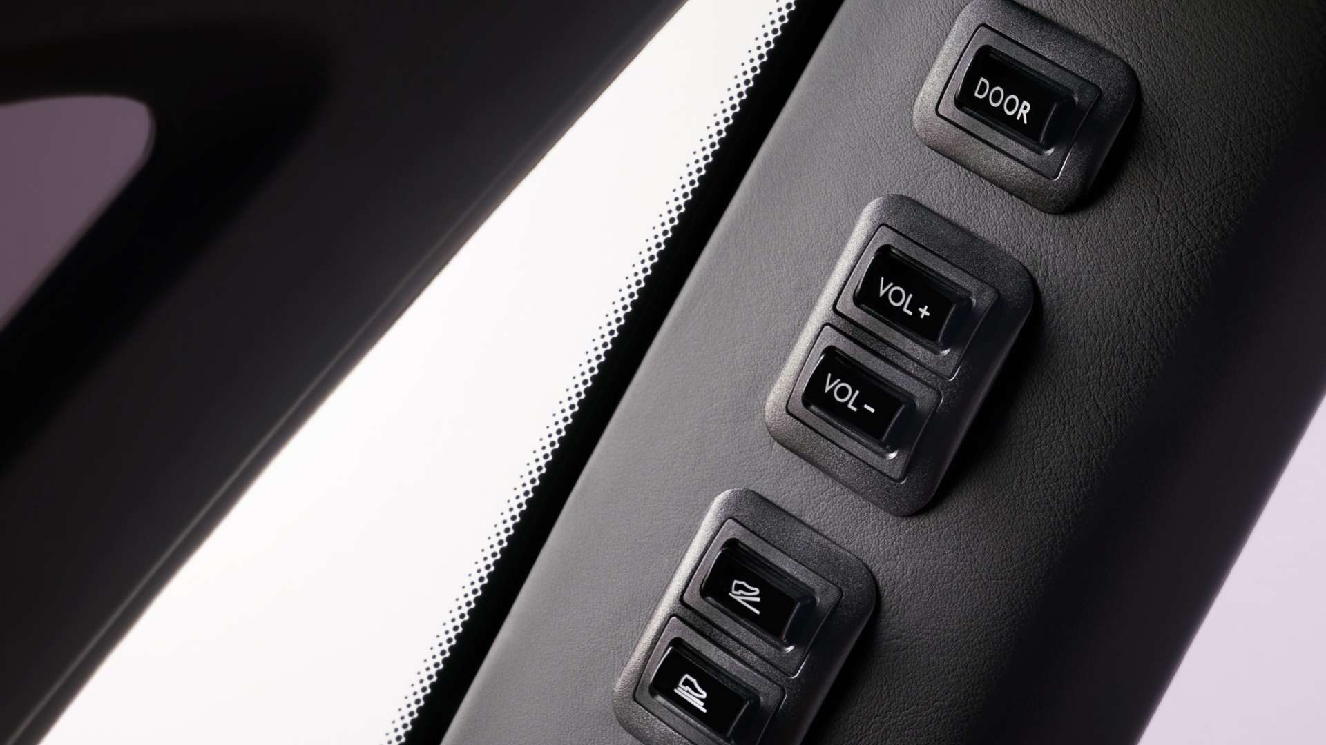 The button controls on a Rolls-Royce Phantom EWB model