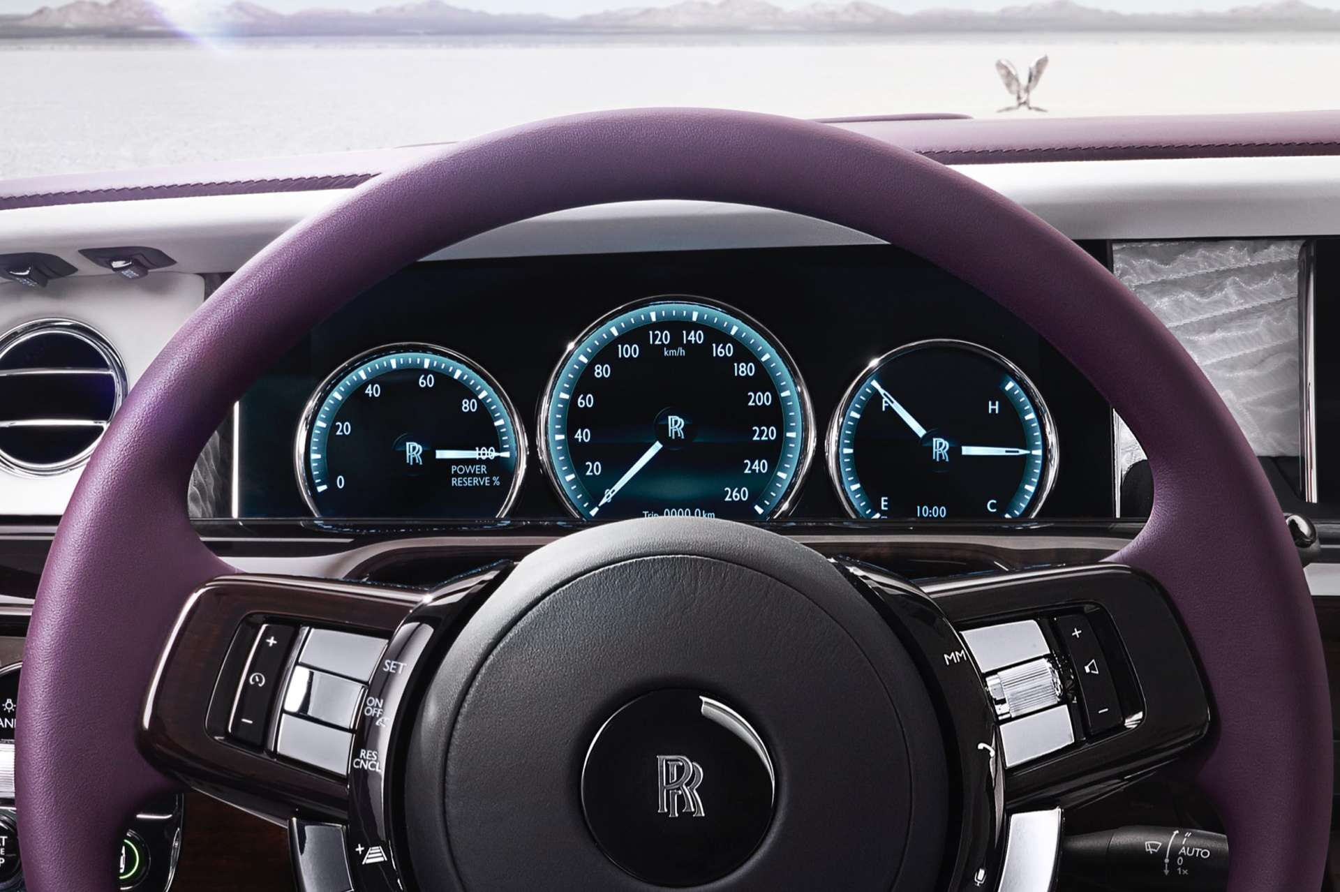 Steering wheel of the Phantom Extended Wheelbase