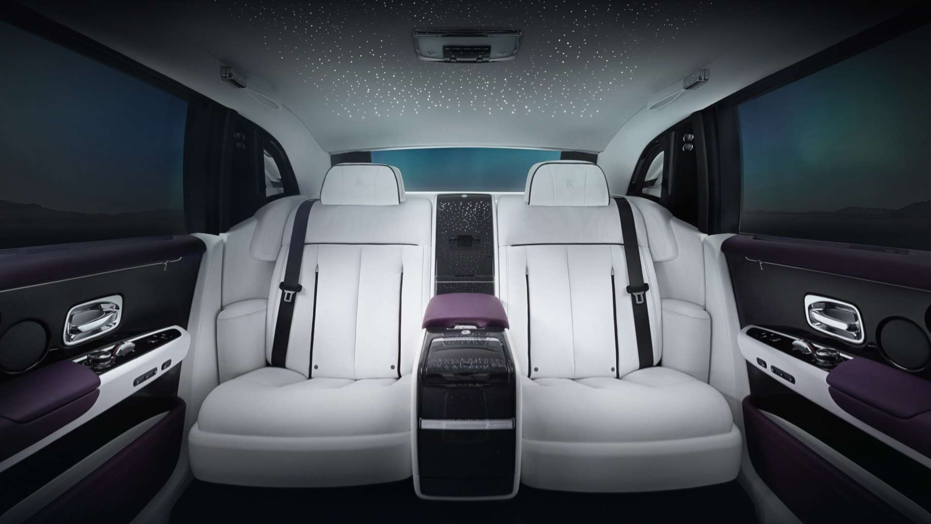Interior seating of Rolls-Royce Phantom Extended Wheelbase