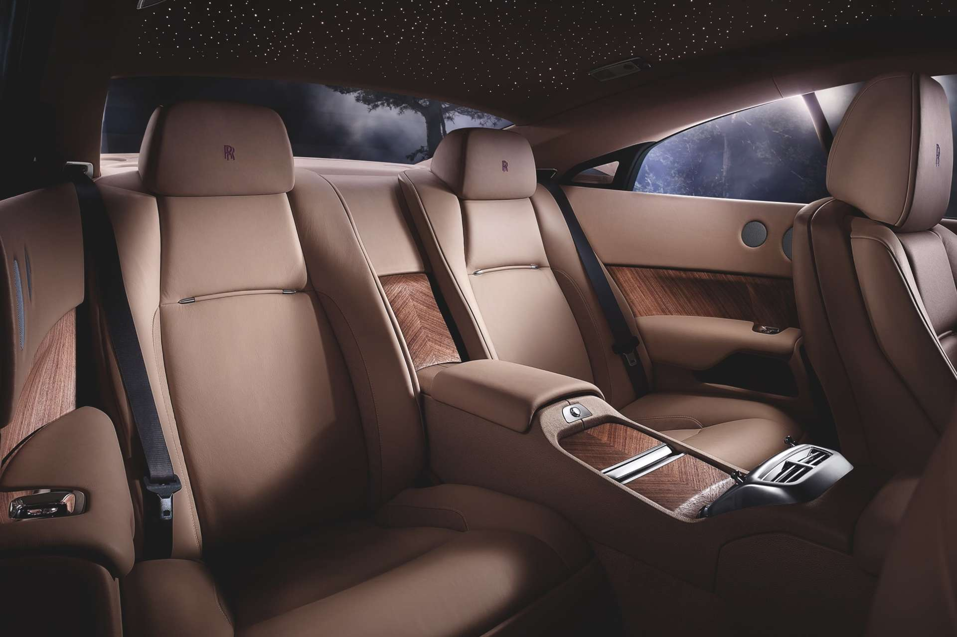 rolls-royce wraith back seat interiors