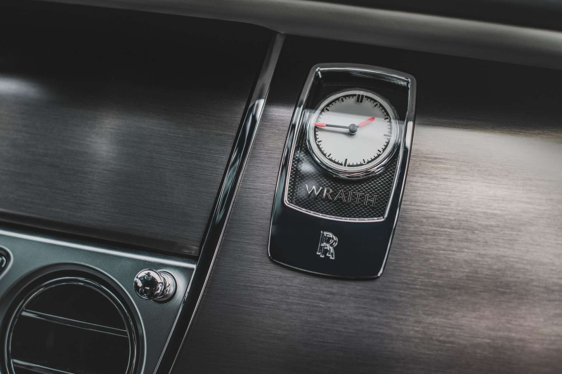 Rolls-Royce Wraith close up clock face on dashboard