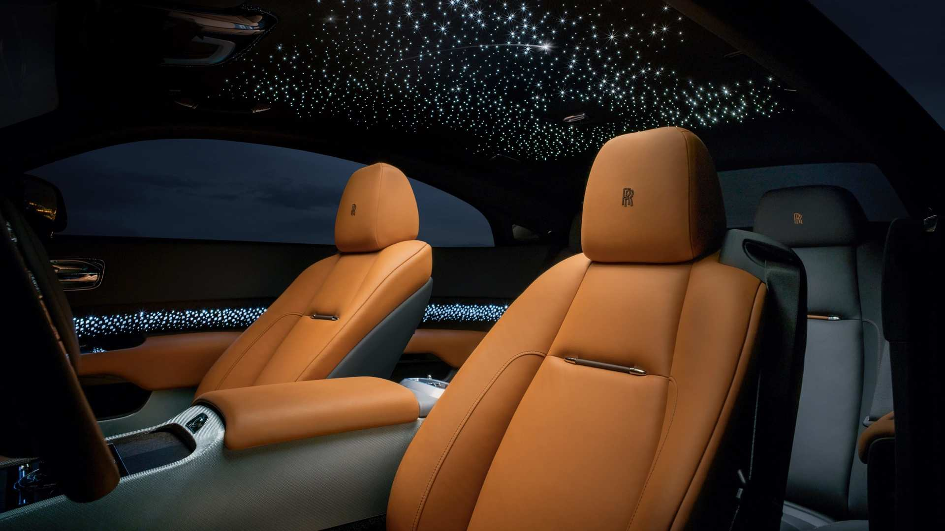 Rolls-Royce Wraith front seats starlight, Luminary collection