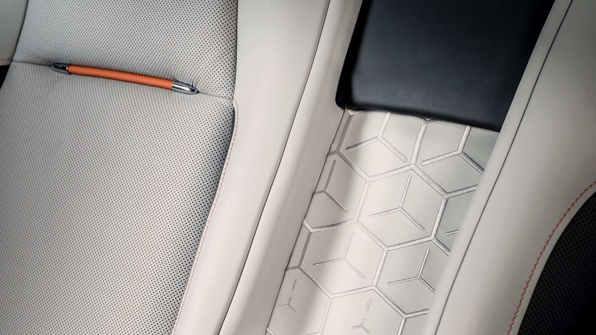 Rolls-Royce Wraith Nebula collection, close up of seat detail