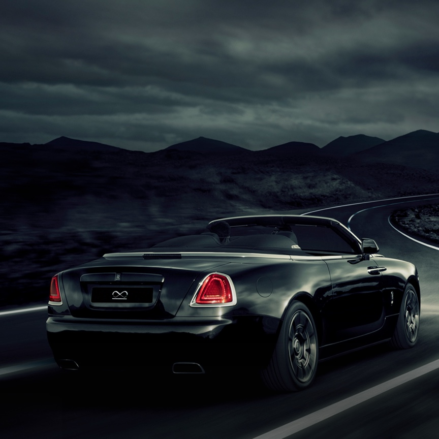 Black Badge Dawn is crafted for adventure. Thrill the senses, with the most spirited Rolls-Royce open-top driving experience.