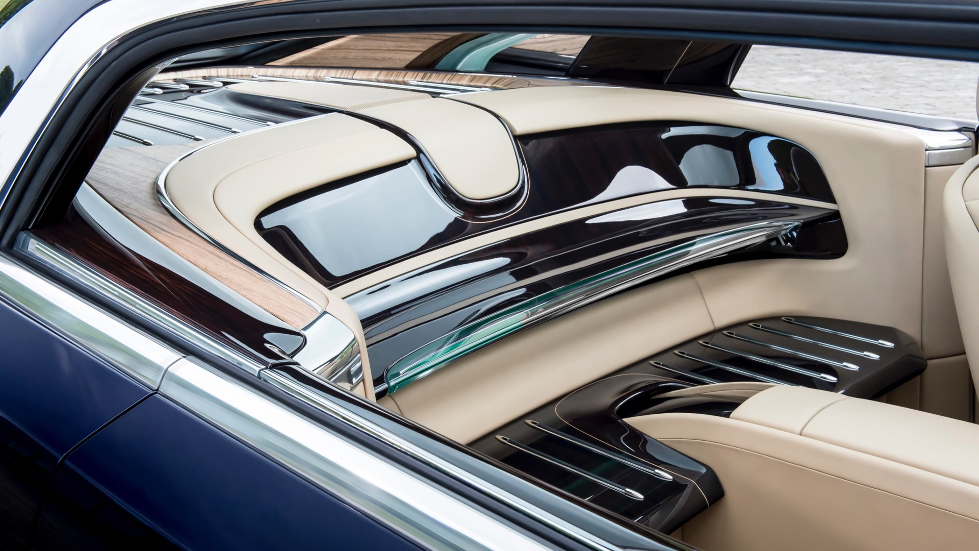 Interior view of Rolls-Royce Sweptail