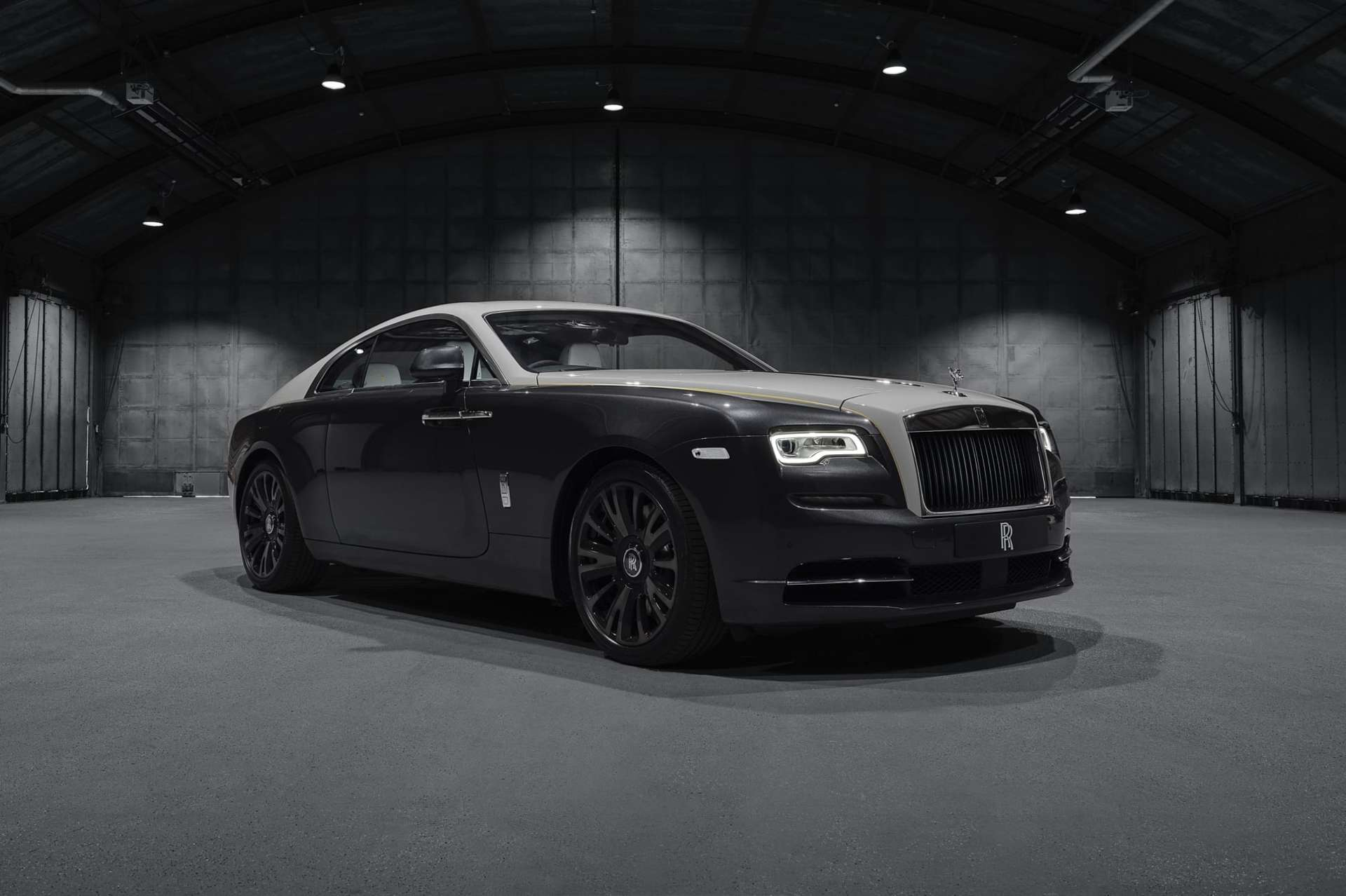 A side view of a Bespoke Rolls-Royce Wraith motor car