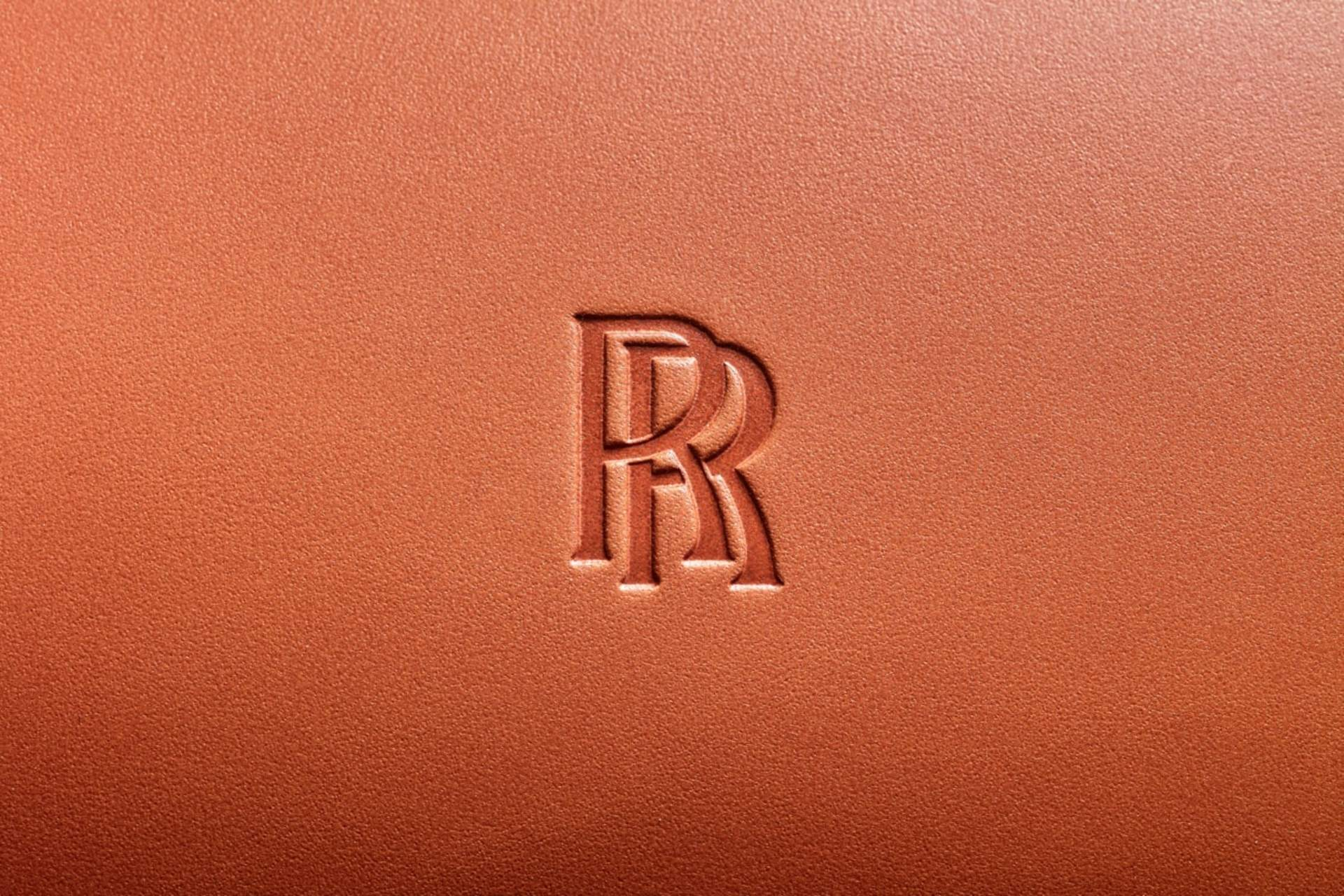 leather embossing  of rolls-royce logo