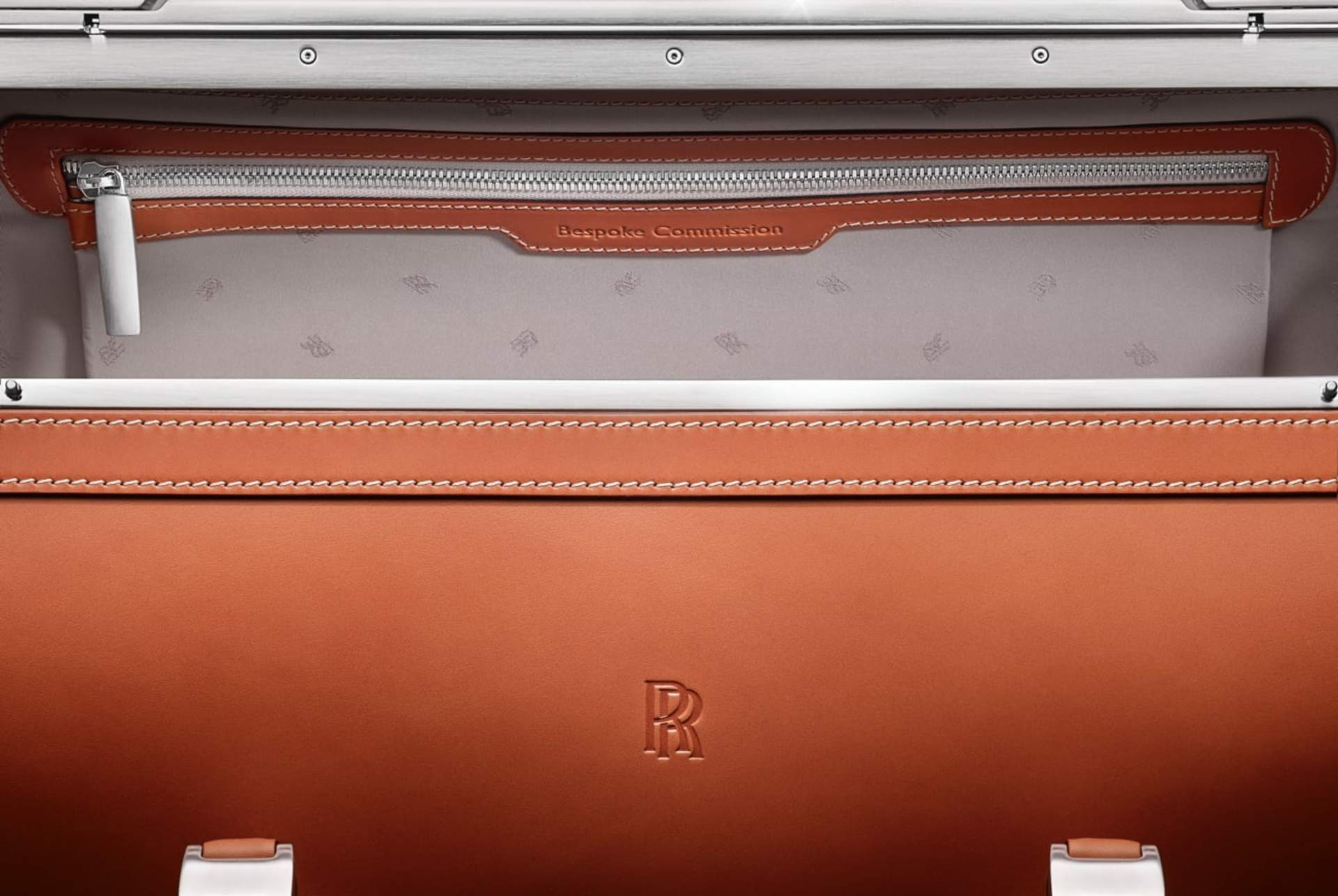 image of the trim detail on rolls-royce luggage