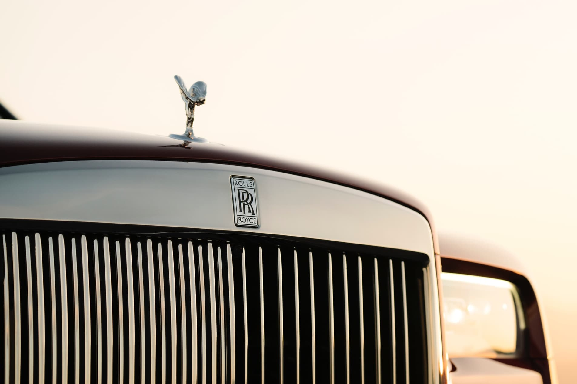 Front grille of Rolls-Royce motor car