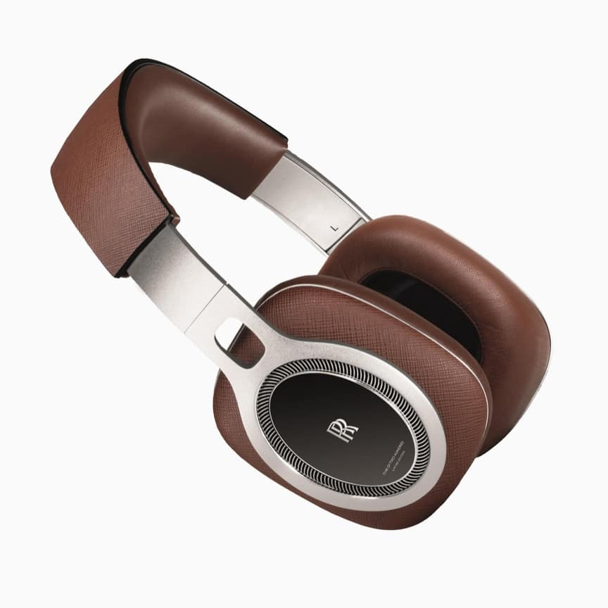 <p>Constructed from aluminium and Saffiano brown leather for a lightweight feel, these headphones are connected to your vehicle or device via a cable, further enhancing sound quality and ensuring no interference is received during use. In a limited run of only 200, each comes with a premium monogrammed storage case – the ideal addition to any Rolls-Royce collection.</p>