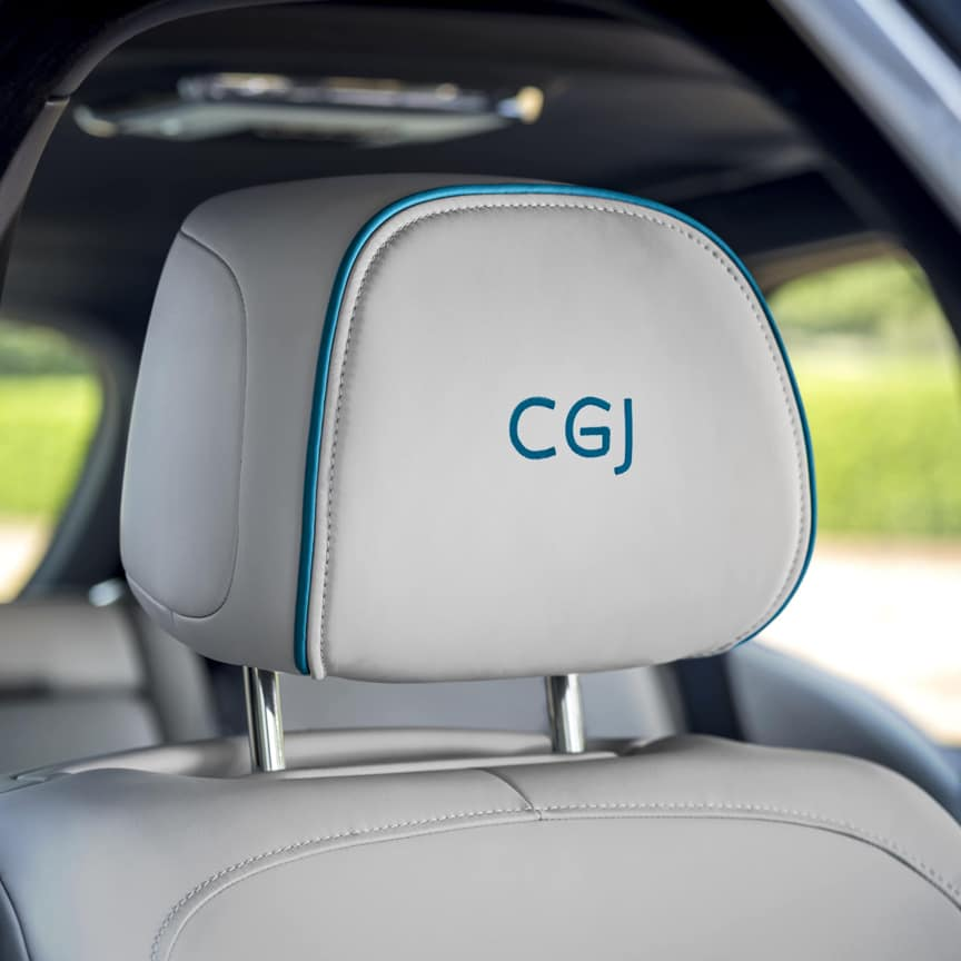 <p>Display your individual style by enhancing your headrests with elegantly embroidered lettering, in a complementary coloured thread or a preferred contrasting colour. Choose up to seven characters of text, with the option of three available fonts. (Six characters maximum for Phantom and Cullinan).</p>