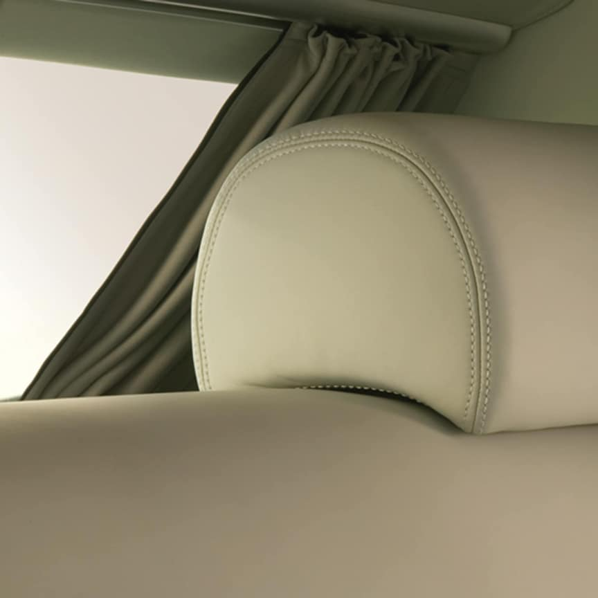 <p>Enhance the feeling of privacy for the rear occupants with electric curtains. These curtains are controlled effortlessly from the rear doors or on the driver's door. Available as a rear windscreen curtain, or complete rear compartment curtains, including side windows.</p>