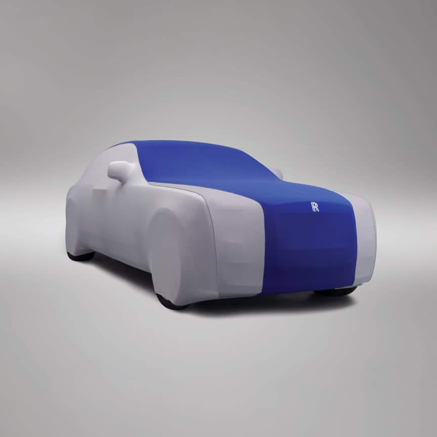 <p>Handmade to the highest standard and designed to perfectly follow the contours of your motor car, these Tailored Indoor Car Covers can be made from a palette of 18 colours and are available in a single or two-tone colour combination. For the highest level of personalisation, initials, names, crests, insignia or RR monograms can be embroidered onto either side.</p>