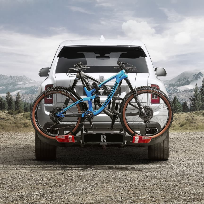 <p>Add the adrenaline rush of a two-wheeled adventure to your Cullinan itinerary with the ultimate bicycle carrier. With space for two bikes, its intelligent tilt action allows effortless access to the boot space during use, while the advanced locking system and heat shields give your bicycles supreme security and protection. Simple to fold and stow in the luggage compartment when not in use.</p>